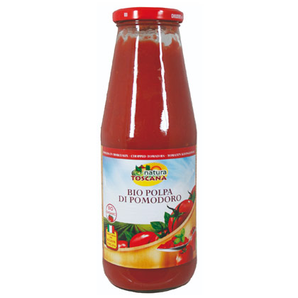Natura Toscana Tomaten passiert (Polpa) Bio Glas 690g