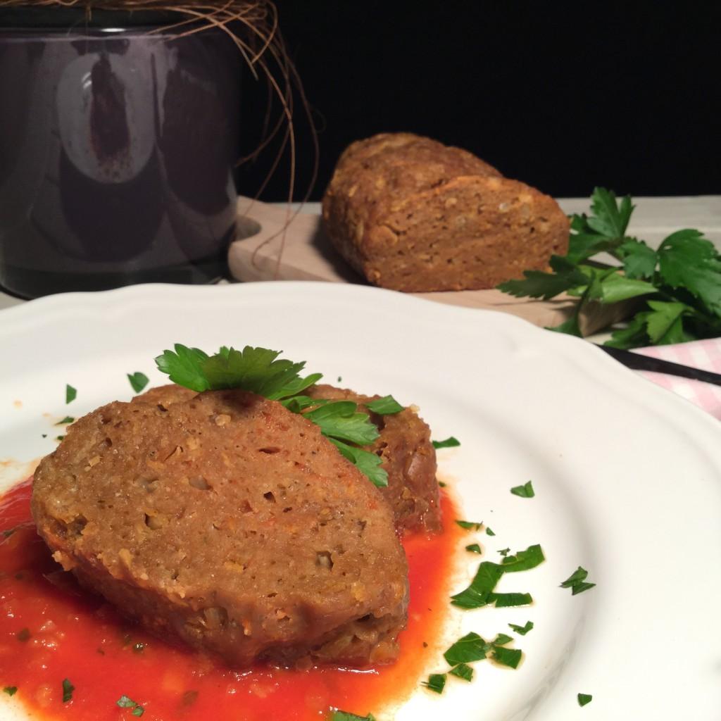 Rezept Veggie Hackbraten an rassiger Tomatensauce