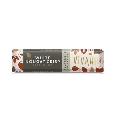 Vivani White Nougat Crisp Riegel 35g