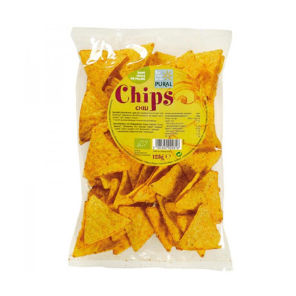 Pural Mais Chips Chili 125 g