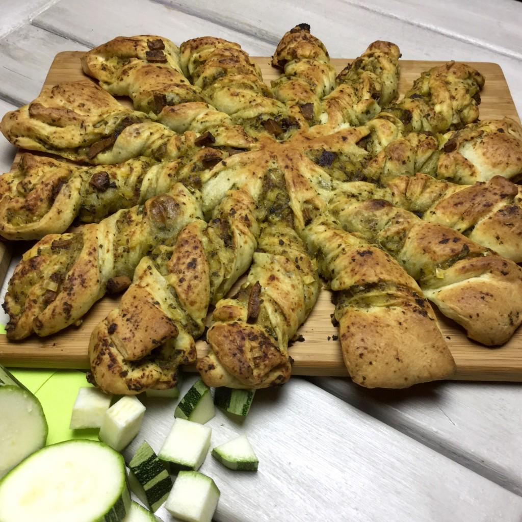 Rezept Pizzabrot mit Zucchini