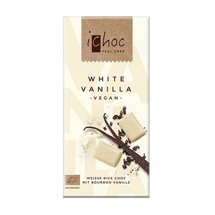 iChoc White Vanilla weisse Reismilchschokolade 80g