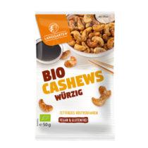 Landgarten würzige Bio-Cashews 50g