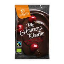 Landgarten Bio Amarenakirschen in Zartbitterschokolade 50g