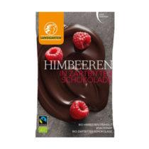 Landgarten Bio Himbeeren in Zartbitterschokolade 50g
