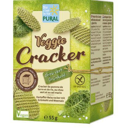 Pural Veggie Cracker Grünkohl & Meersalz 55g