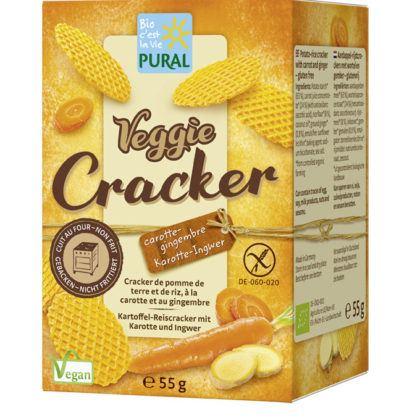 Pural Veggie Cracker Karotten Ingwer 55g