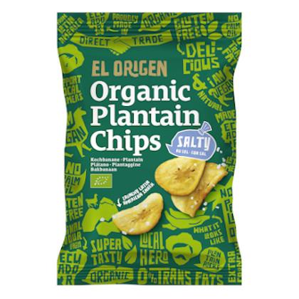 El Origen Kochbananen Chips gesalzen 80g