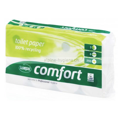 Wepa WC-Papier Recycling 3-lagig