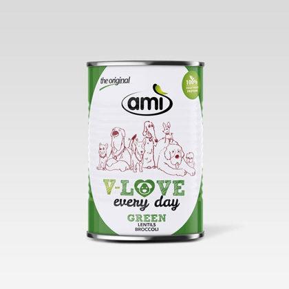 Ami Dog Nassnahrung Green für Hunde 400g