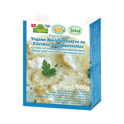 Soyana vegane Bio Alternative zu Zürcher Geschnetzeltes, 2x 250g